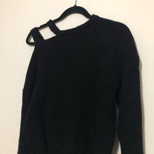 SHEIN Sweaters - Open-shoulder knit sweater